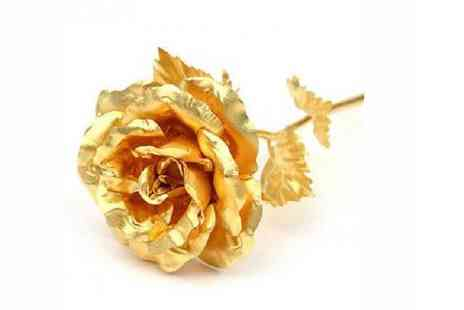 Spicy Decor - 24Ct Gold Rose Ideal for Valentines Day - Save 40%