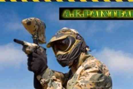 A.K. Paintball - Paintball Experience For  Three Including Lunch and 100 Paintballs - Save 90%