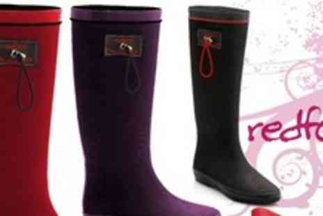 Redfoot Shoes - One Pair of Womens Foldable Wellies - Save 60%