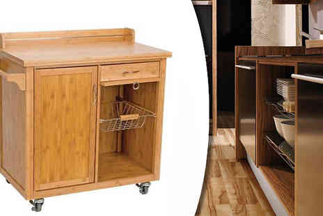 Irof Designs - The Bamboo trolley with cabinet & 2 drawers - Save 55%