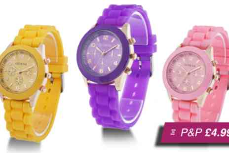 Betafresh BV - Silicone Geneva watch in a choice of colours - Save 97%