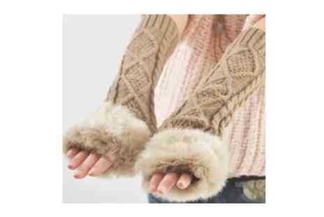 Flutterby Glam - Choice of Womens Fingerless Gloves - Save 50%