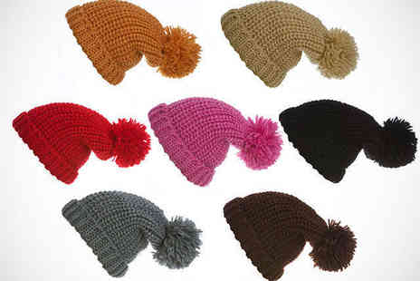 Dress Room - Chunky Knit Bobble Hat in Choice of Colours - Save 69%