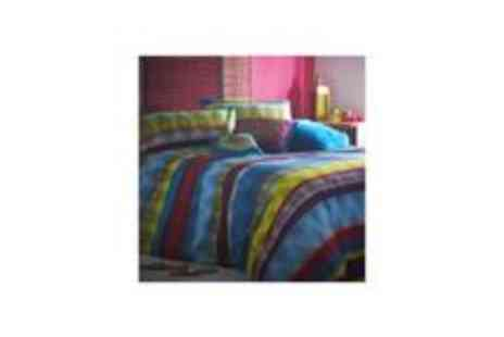 debenhams - Multi Coloured Tribal Striped Bed Linen - Save 70%