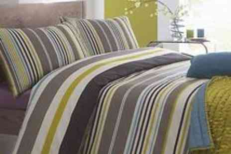 debenhams -  Multi Coloured Mineral Striped Bed Linen - Save 70%