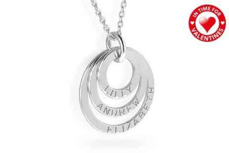 Silvexcraft Design - Personalised Triple Ring Necklace - Save 79%