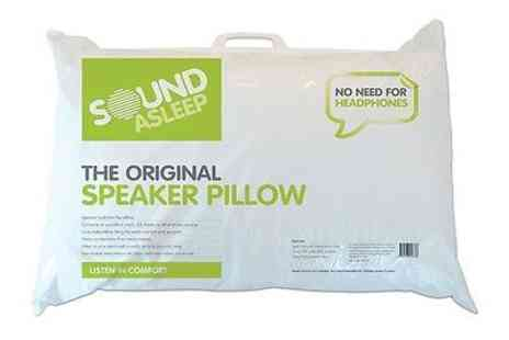 branded_bedding - Sound Asleep Pillow Original Speaker Pillow with MP3/ iPod Speaker  Packs - Save 70%