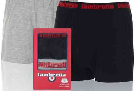 blueinconline - 4 Pack Mens Lambretta Underwear Boxer Briefs Assorted Colours Black/Grey - Save 50%