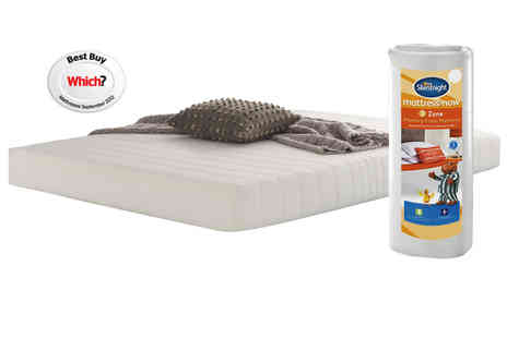 Branded Bedding - Silent night Double / King Mattress Plus 2 FREE Pillows - Save 62%