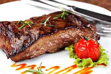 39 Prime - Steak Meal With Cocktail or Glass of Wine For Two  - Save 66%