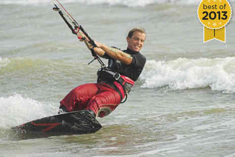 KiteSurf 101 - Two Hour Beginners Kite Surfing Taster Lesson for One - Save 53%