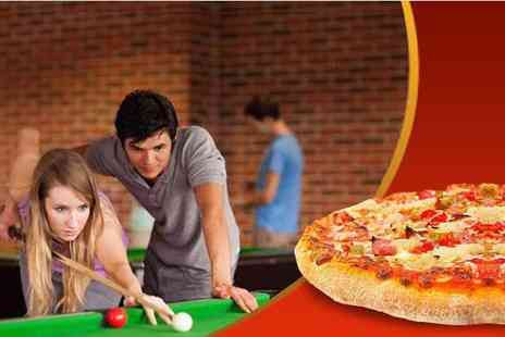 The Ball Room - Pool or snooker with pizza for two  - Save 50%