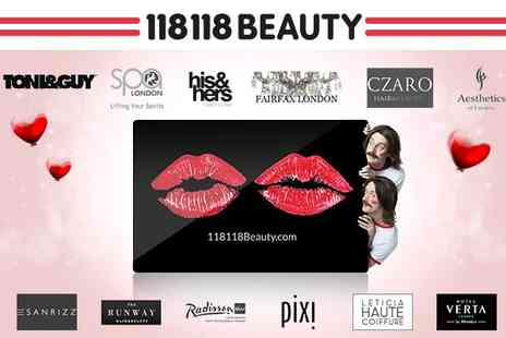118 118 Beauty - 12 month 118 118 Beauty Pass - Save 63%
