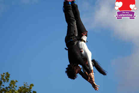 UK Bungee Club - Lovers Leap Valentines Day Bungee Jump with Bottle of Champagne for Two - Save 51%