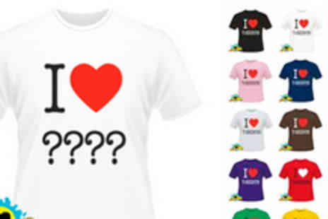 Print Me A Shirt - Create your own I Love T shirt - Save 50%
