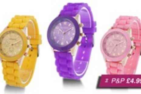 Betafresh BV - Silicone Geneva watch in a choice of six colours - Save 97%