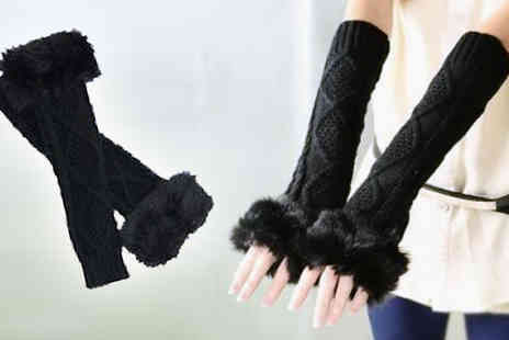 Flutterby Glam - Fingerless fashion gloves - Save 75%