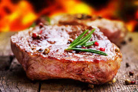 Cool Cats Cafe - 8oz rib eye steak meal and a glass of wine - Save 59%