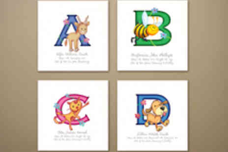 Frame My Name - Voucher for an Animal Adventures Childs Initial Print - Save 60%