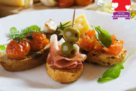 Jazz After Dark - Tapas Sharing Platter for Two with Bottle of Wine to Share - Save 35%