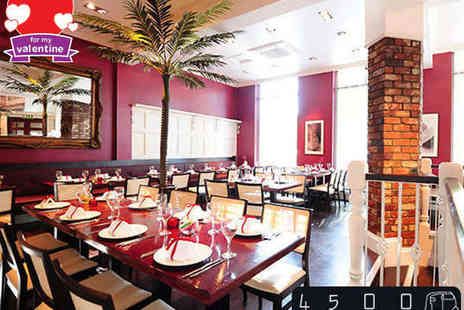 4500 Miles From Dehli - Three Course Valentines Indian Feast with a Bottle of Champagne for Two People - Save 51%