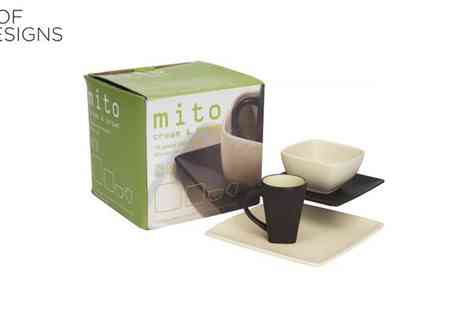 Irof Designs - Mito Cream And Brown Dinner Set - Save 53%