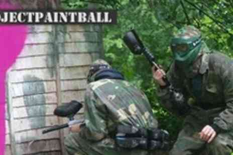 Project Paintball - Paintballing Experience For Two Plus Lunch, Refreshments, and 100 Paintballs Each - Save 82%