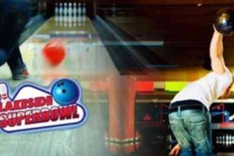 Lakeside Superbowl - One Hour of Ten Pin Bowling For Up to Six People - Save 68%