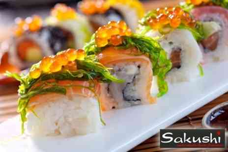 Sakushi - Ten Coloured Plates of Authentic Sushi for Two - Save 61%