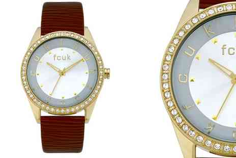 watchwarehouse - Ladies French Connection Crystal Watch - Save 60%