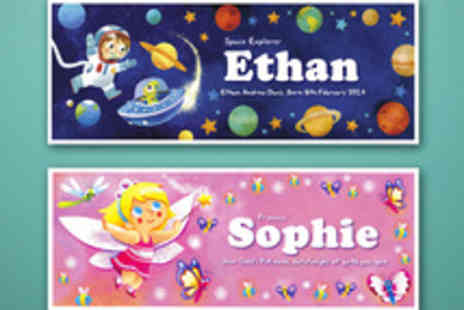 Frame My Name - Voucher for a Little Adventurers Childs Name Print - Save 60%