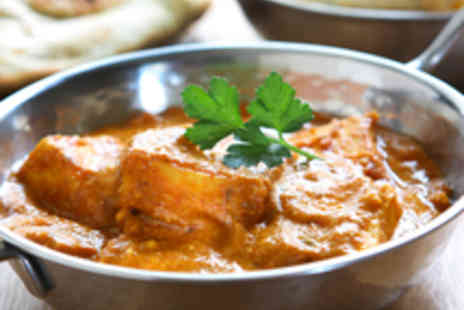Bombay Palace - Delectable Indian Dining with Rice and Sides for Two People  - Save 59%