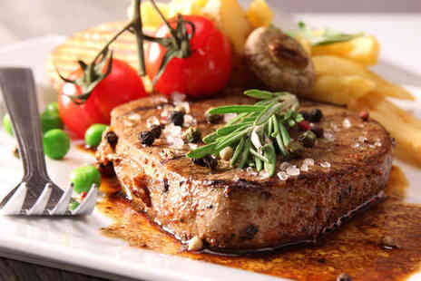 The Brooklands Hotel - 8oz Fillet Steak with Wine or Beer Each for Two  - Save 55%