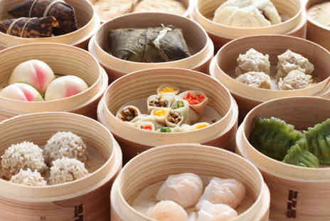 China City - Dim sum meal for 2 including 9 dishes to share and a glass of wine - Save 49%
