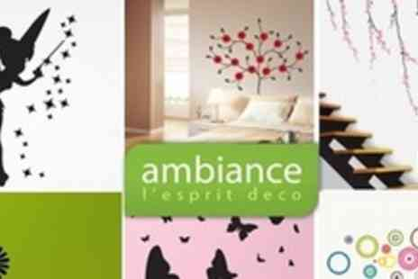 Ambiance Live - £25 To Spend on a Range of Decal Wall Stickers - Save 68%