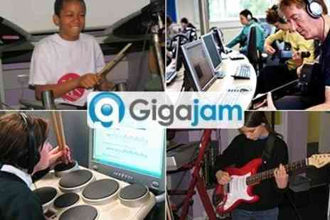 Gigajam Music School - Online Music Teacher Lessons for the Guitar, Bass, Keyboard and Drums - Save 50%