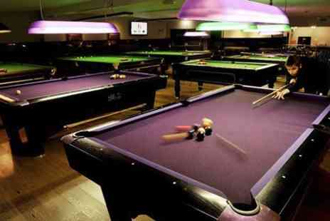 The Ball Room Sports Bar - Two Hours of Pool Plus Pizza For Two  - Save 51%