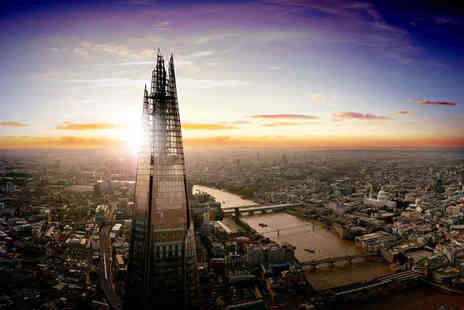 The View From The Shard - Ticket to The View From The Shard for One Person with a Glass of Champagne - Save 50%