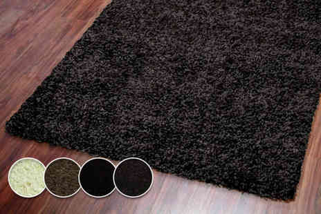 Tranquility Beds - Montana shaggy rug in a choice of sizes and colours - Save 68%