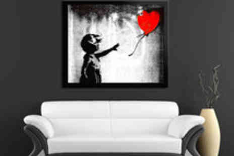 Red Art - Voucher for a Choice of Framed Banksy Art Prints - Save 48%