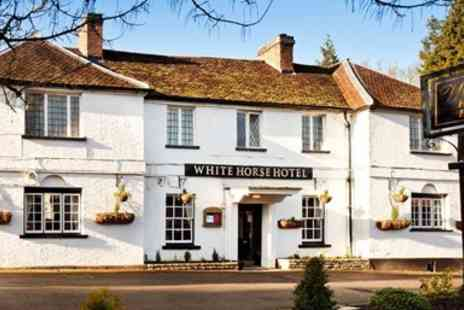 White Horse Hotel - Georgian Hertfordshire Inn stay with Meals & Wine - Save 45%