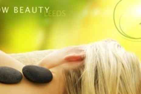 Glow Beauty Leeds -One Hour Full Body Hot Stone Massage Plus 45 Minute Facial and File and Polish - Save 76%