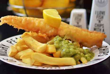 Fish A Licious - Cod and Chips With Mushy Peas For Two - Save 50%