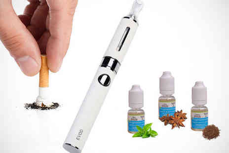 Ecigmaster - Electronic Cigarette Blister Pack Starter Kit with e Liquid in Black or White - Save 76%