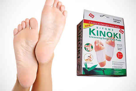 Little Secret Boutique - Pack of Ten Kinoki Cleansing Detox Foot Pads - Save 68%