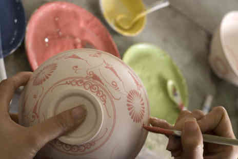 Sticky Fingers - Pottery painting class for 2 including tea and cake  - Save 52%