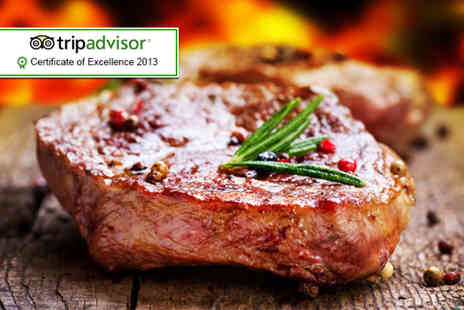 The Leonard Hotel - Rib eye steak dinner and wine for 2  - Save 55%