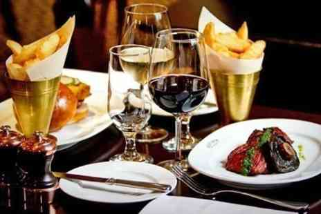 Reform Social and Grill - Two Course Lobster or Hanger Steak Meal With Wine For Two  - Save 48%