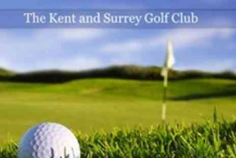 The Kent and Surrey Golf Club - 18 Holes of Golf For Two With Bacon Roll and Coffee - Save 64%