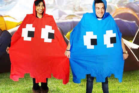 Velocity Outlet - Retro Arcade Rain Poncho in Red or Blue - Save 70%